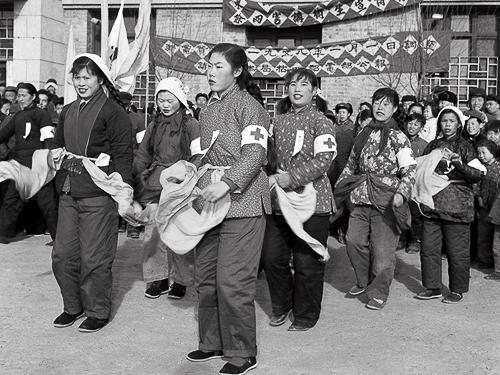 Team der Kampagne für Öffentliche Gesundheit zur Bekämpfung der «Vier Pesten», China, 1958.