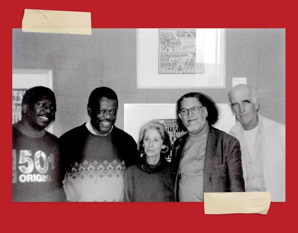 Foto von Mongane Wally Serote, Nadine Gordimer und Dennis Brutus
